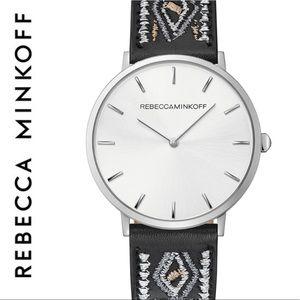 Rebecca Minkoff Major Leather Strap Watch